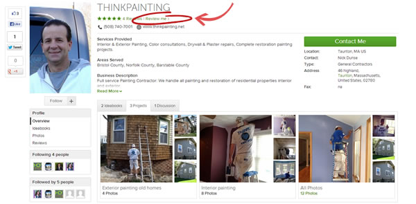 ThinkPainting Houzz Reviews.