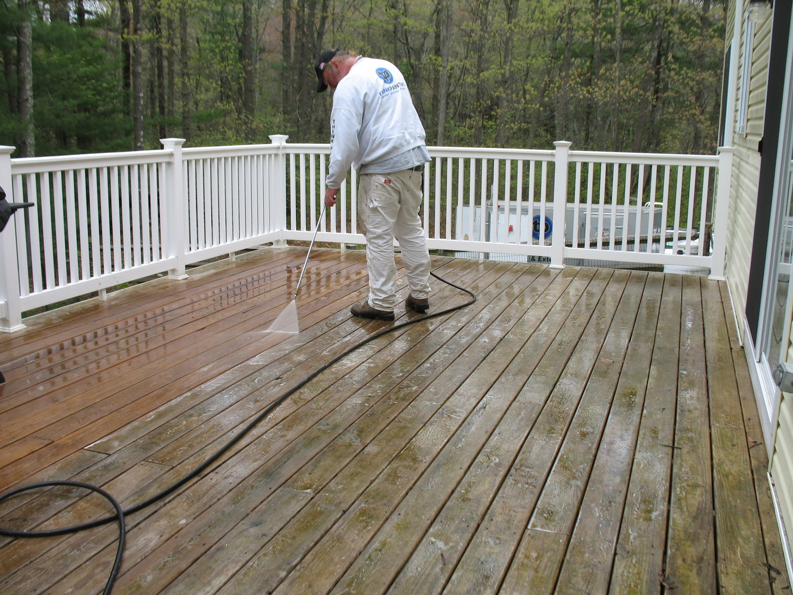 Deck Staining In Massachusetts Think Painting Deck
